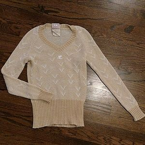 Vintage cream and goldenrod sweater